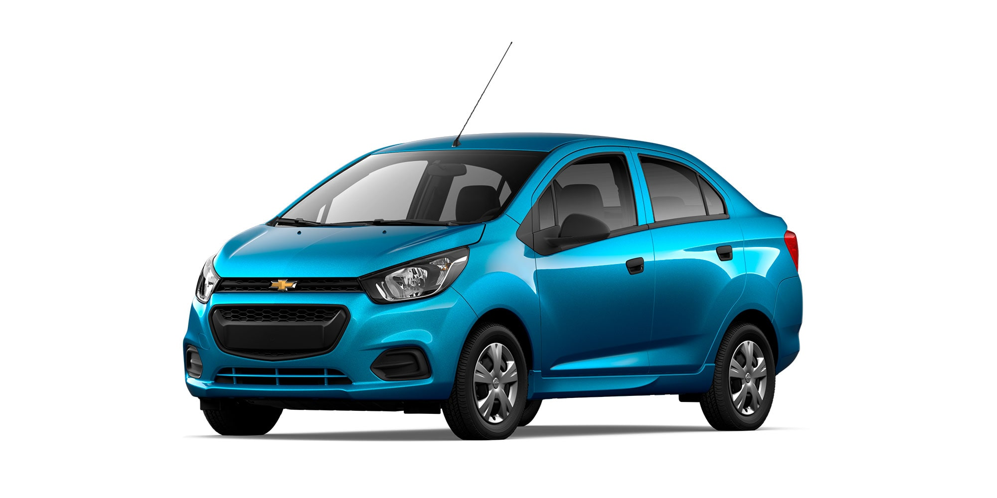 Chevrolet Beat Notchback 2021 color azul caribe ene versión LT