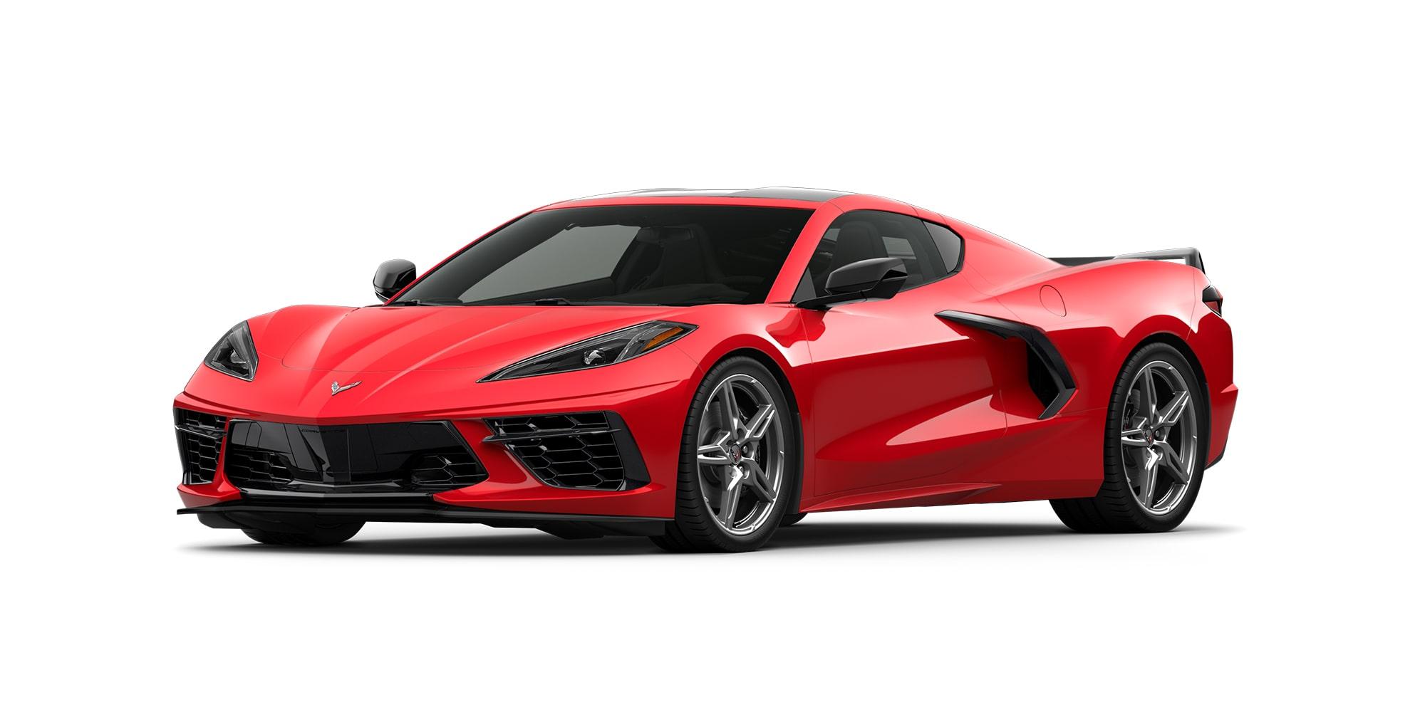Chevrolet Corvette Stingray 2020, versión Z51 Performance con franjas deportivas y acentos en fibra de carbono