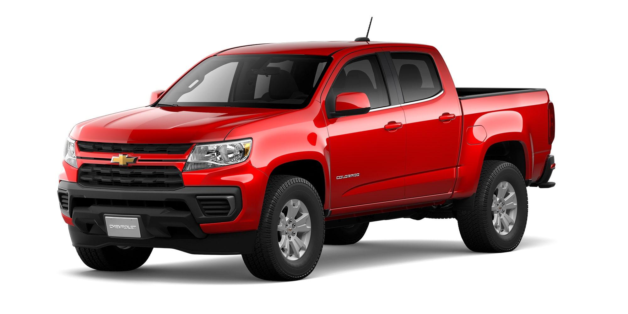 Nueva Chevrolet Colorado 2021 en color Rojo Rubí Versión LT 4x2