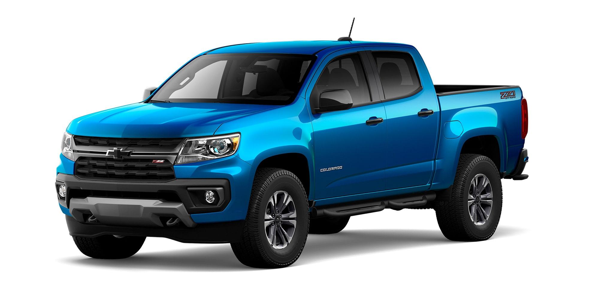 Nueva Chevrolet Colorado 2021 en color Azul Atlántico Versión Z71