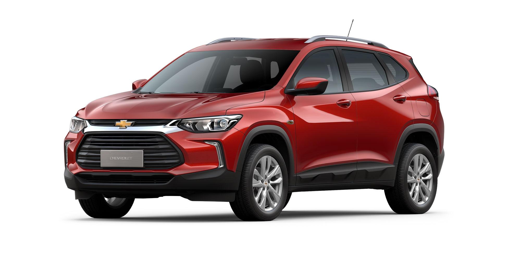Chevrolet Tracker 2021 color rojo flama versión LT