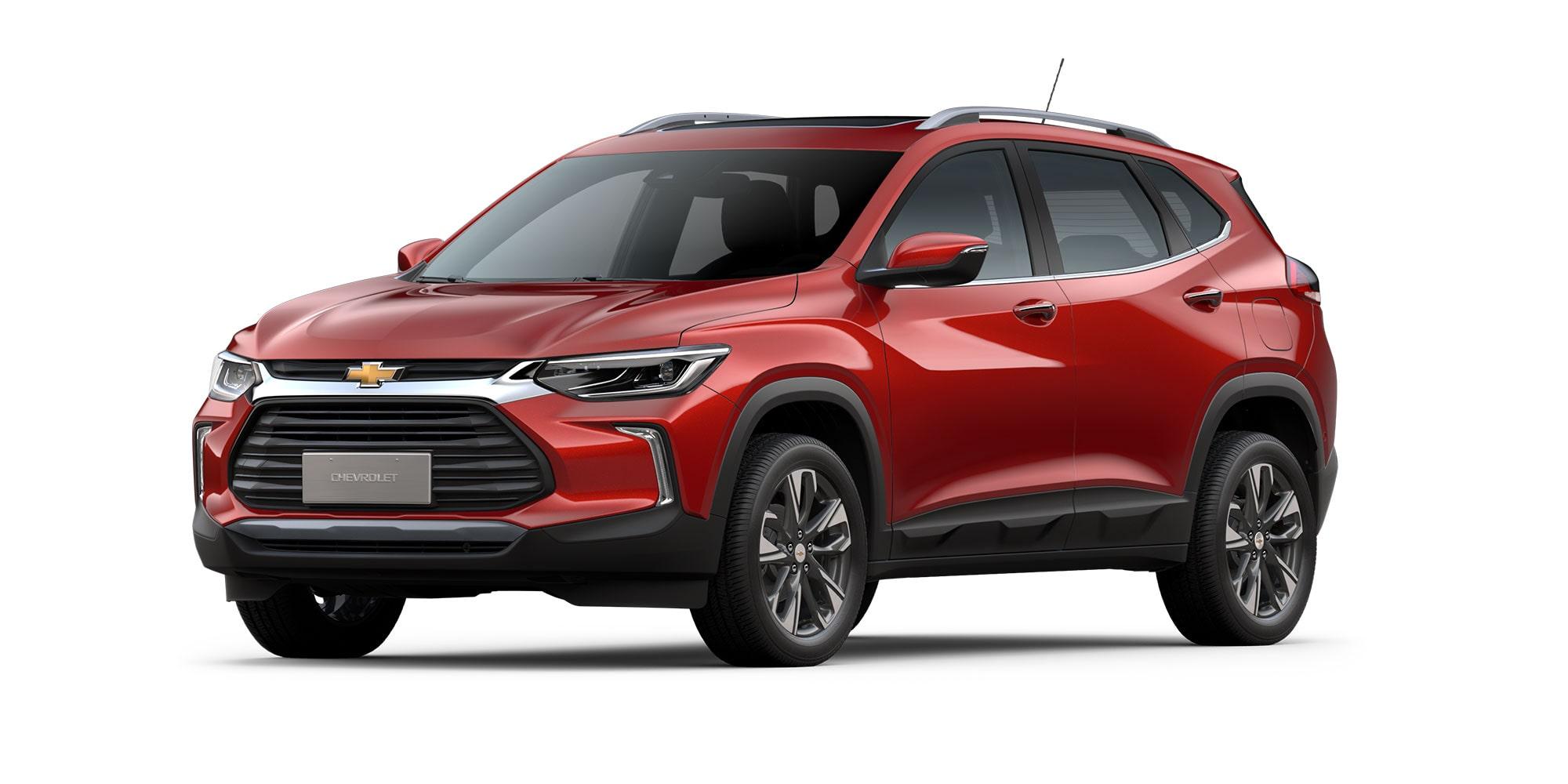 Chevrolet Tracker 2021 color rojo flama versión Premier