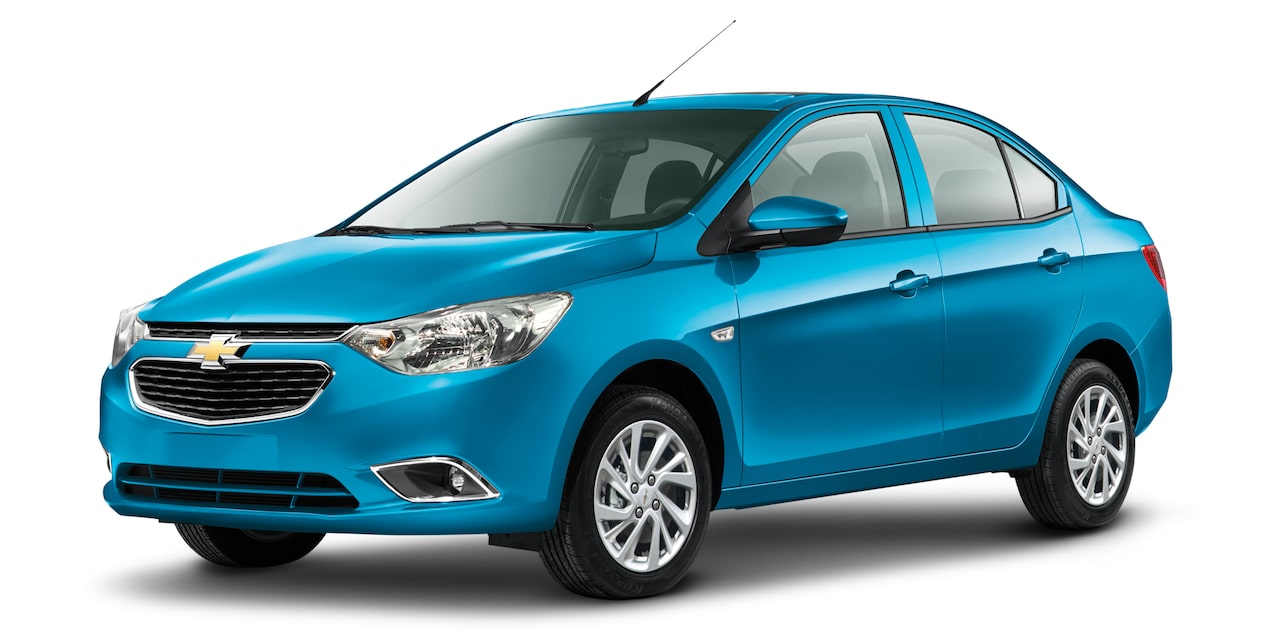 Chevrolet Aveo sedan 2018 color azul océano