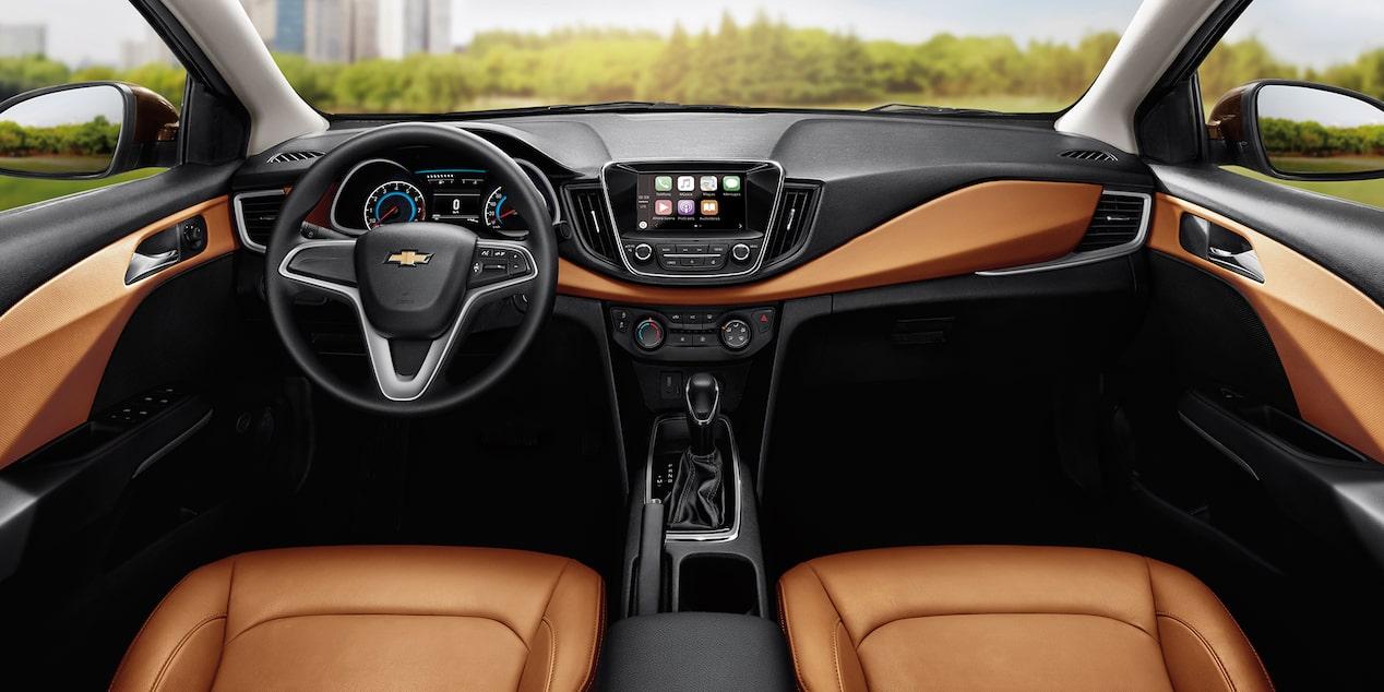 Chevrolet Cavalier 2019 auto familiar, cuenta con asientos en tacto piel con insertos en piel y aire acondicionado