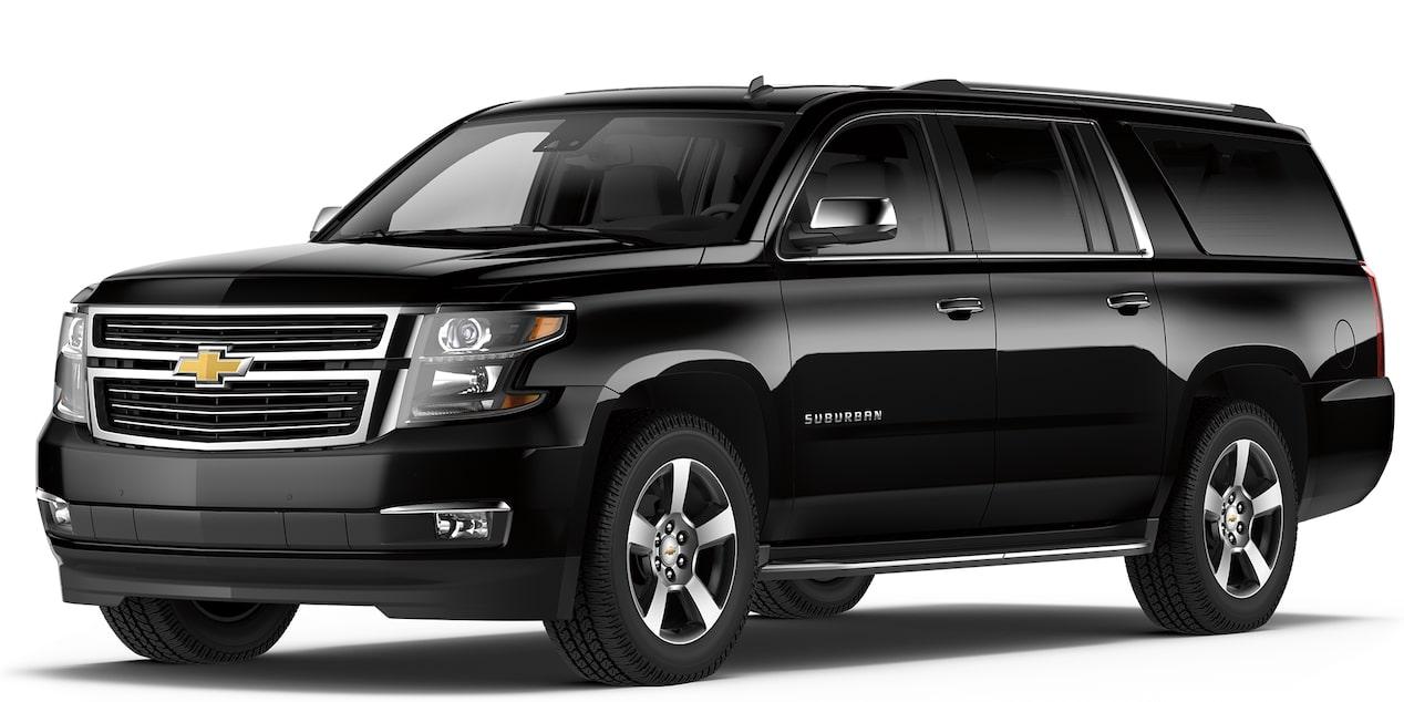 Chevrolet Suburban 2018 camioneta de lujo color negro