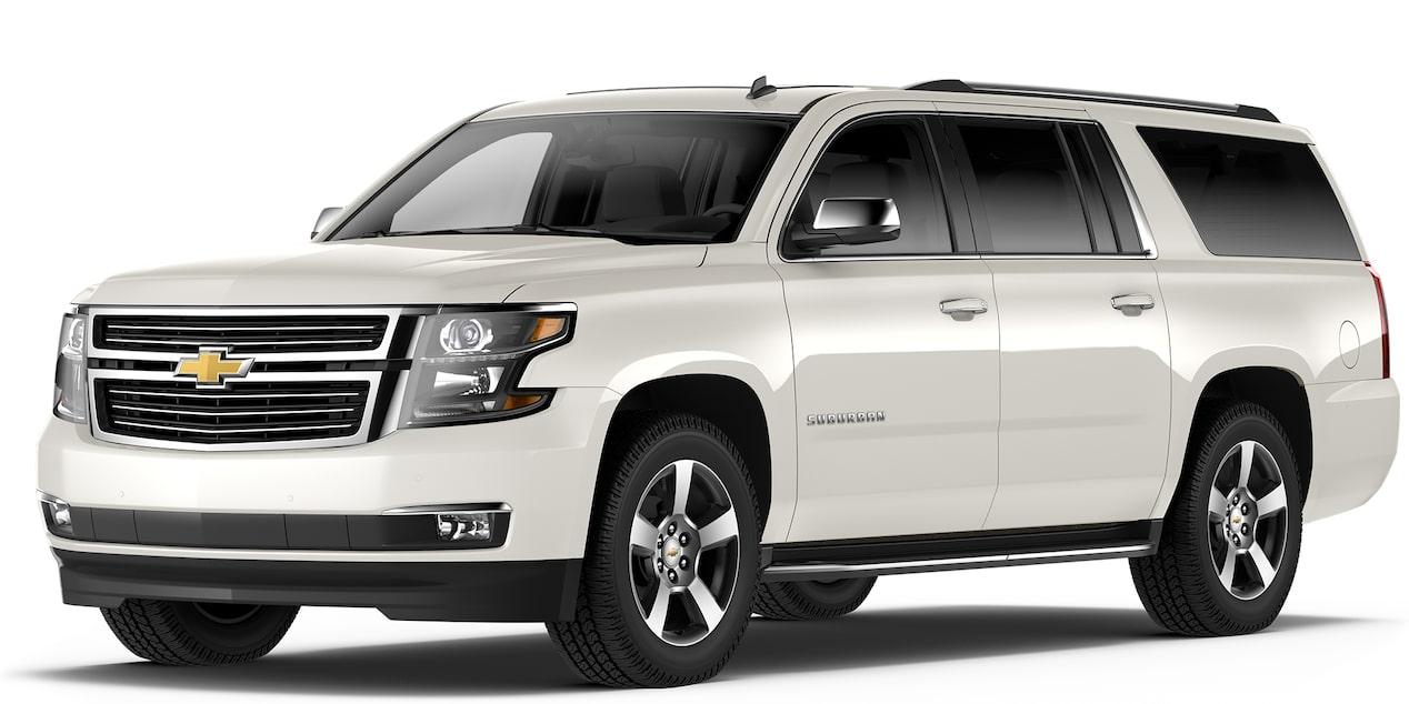 Chevrolet Suburban 2018 camioneta de lujo color blanco platino