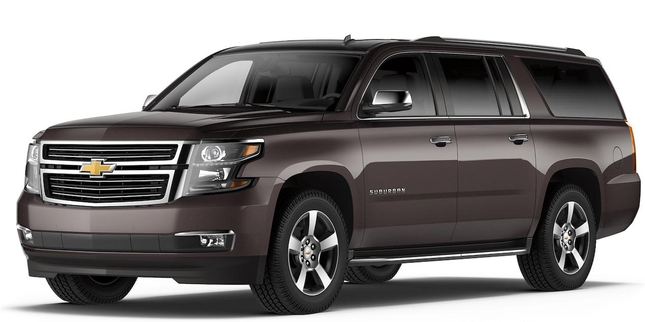 Chevrolet Suburban 2018 camioneta de lujo color iridio metálico