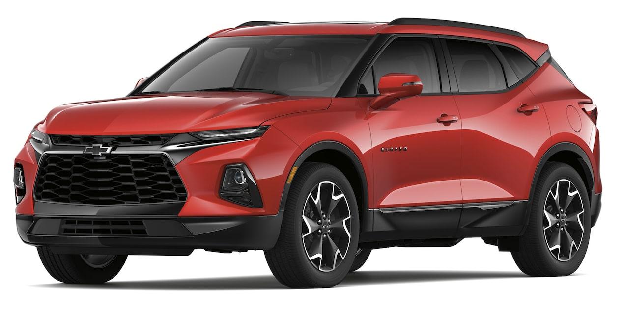 Chevrolet Blazer 2019 SUV color rojo lava