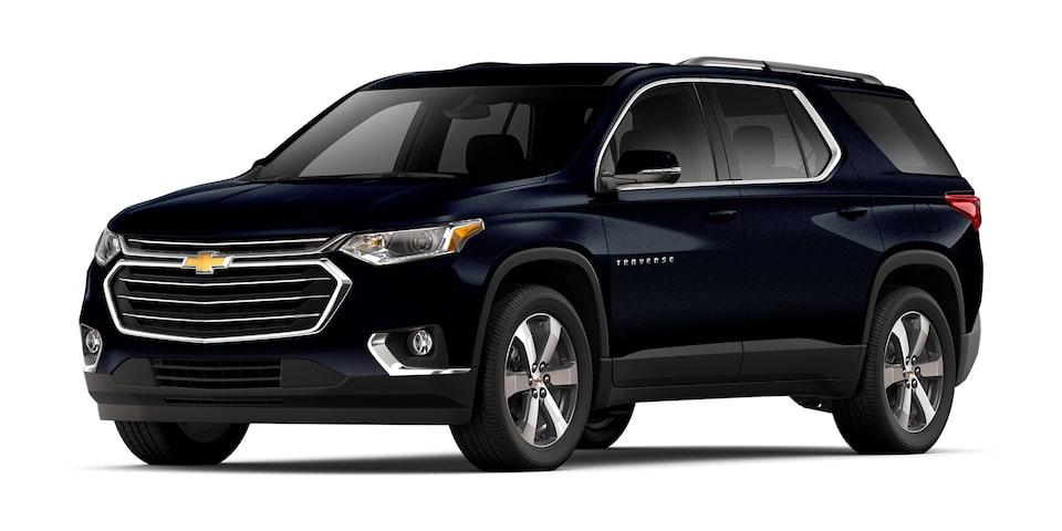 Chevrolet Traverse 2019 camioneta para 7 pasajeros en color AZUL LUNAR metálico