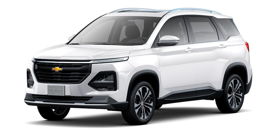 Exterior de Chevrolet Captiva 2022 en color blanco