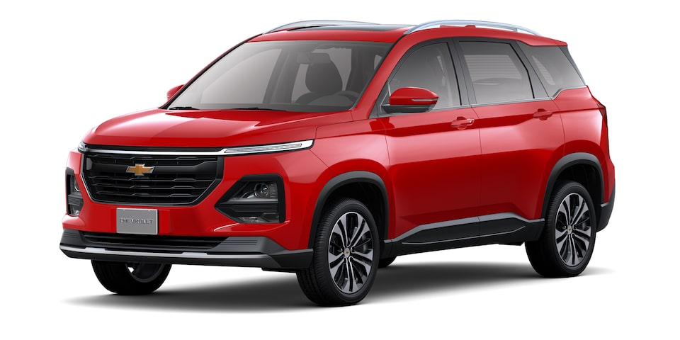 Exterior de Chevrolet Captiva 2022 en color rojo