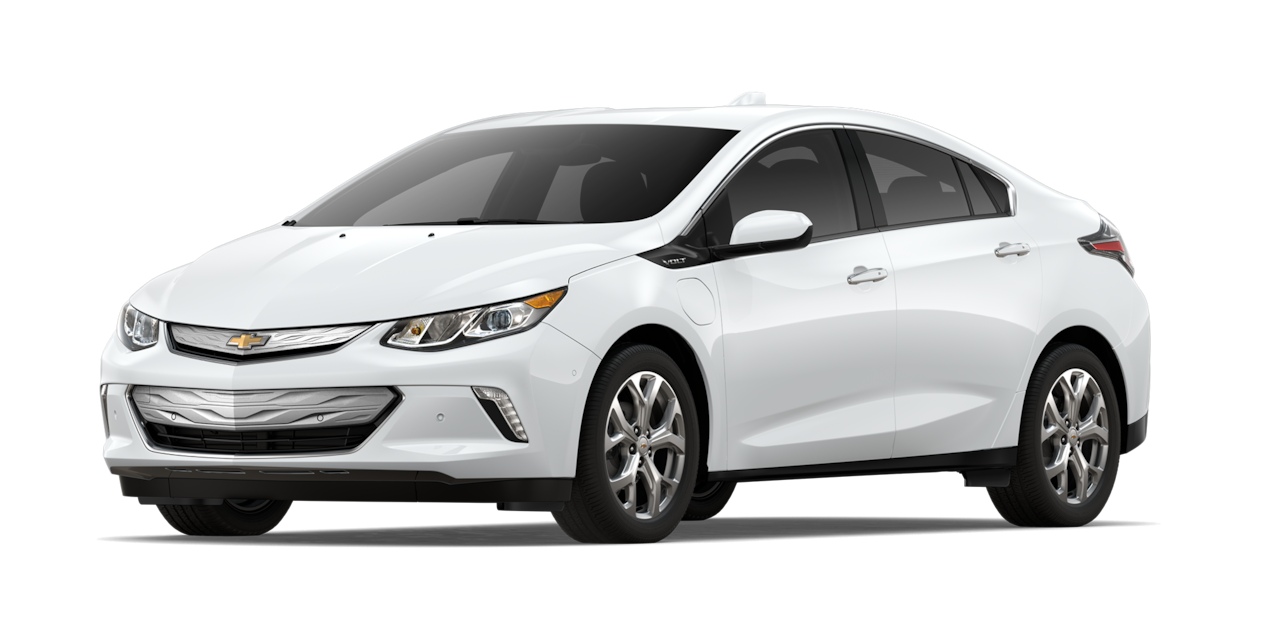 Chevrolet Volt 2019, auto híbrido, color blanco nevado
