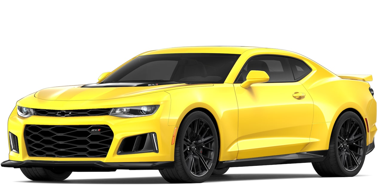 Chevrolet Camaro ZL1 2018 convertible color bright yellow