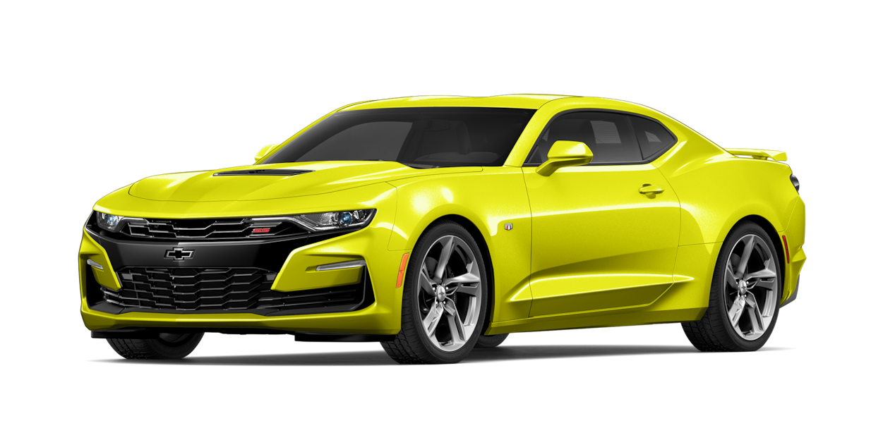 Chevrolet Camaro 2019, carro deportivo color shock