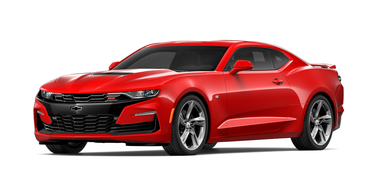 Chevrolet Camaro 2019, carro deportivo color red hot