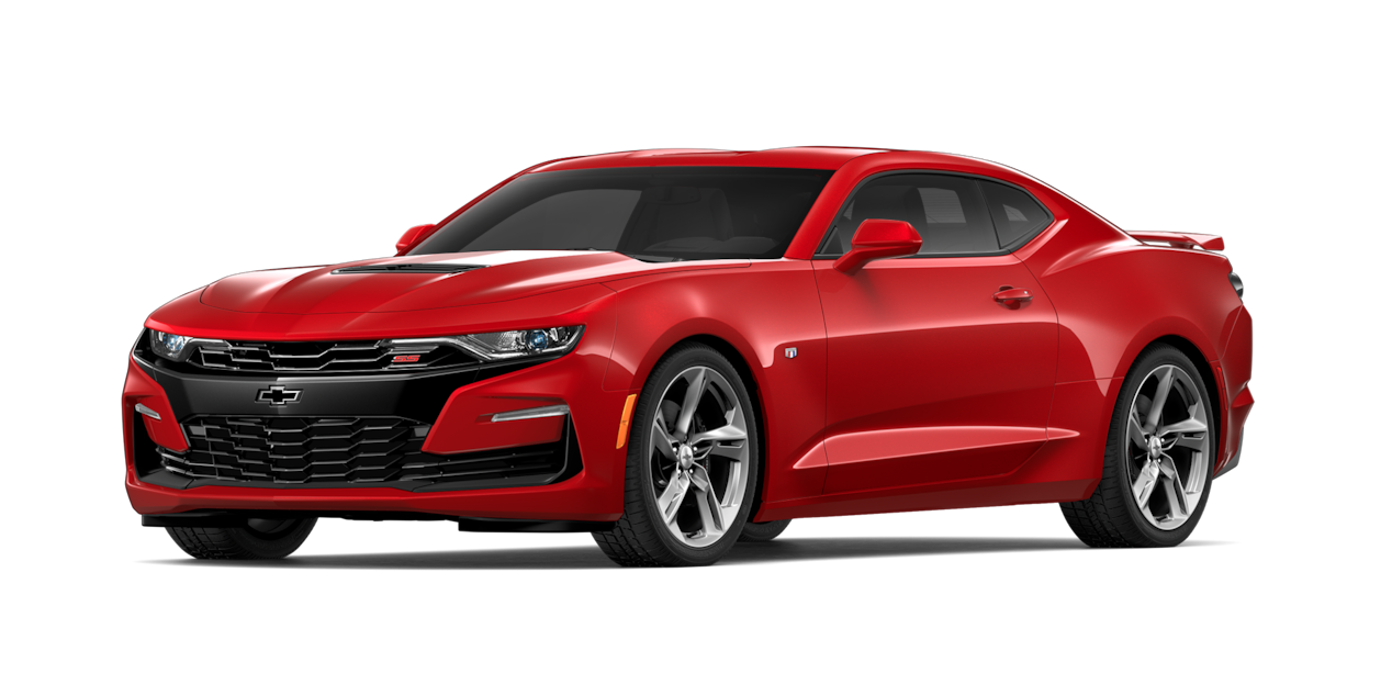 Chevrolet Camaro 2019, carro deportivo color garnet red wine
