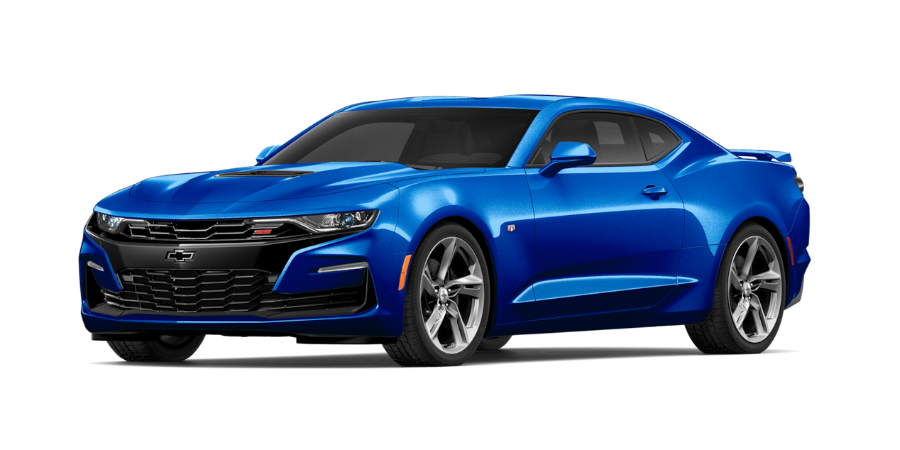 Chevrolet Camaro 2019, carro deportivo color riverside blue metallic