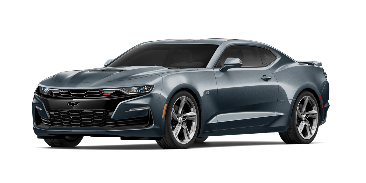 Chevrolet Camaro 2019, carro deportivo color shadow gray metallic