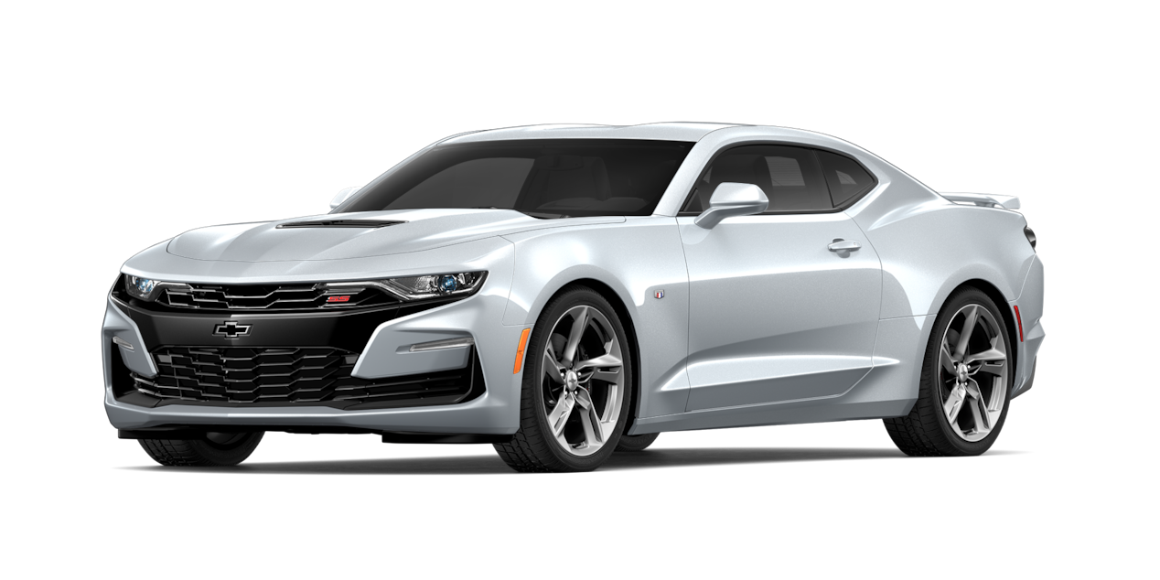 Chevrolet Camaro 2019, carro deportivo, color silver ice metallic