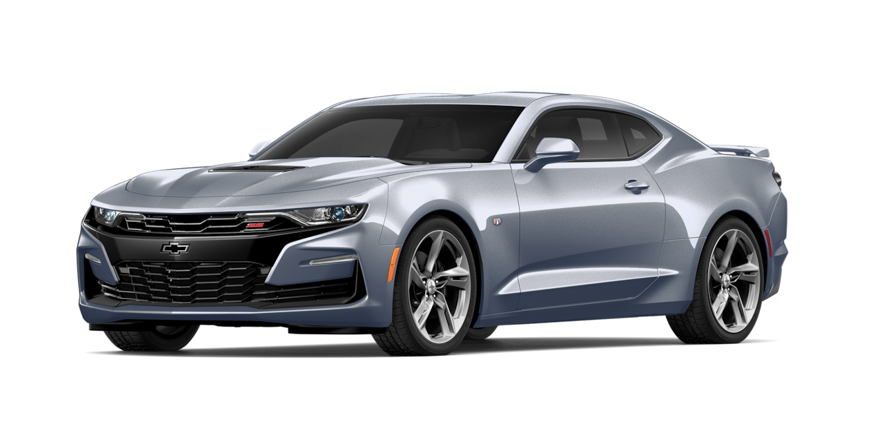 Chevrolet Camaro 2019, carro deportivo color satin steel metallic