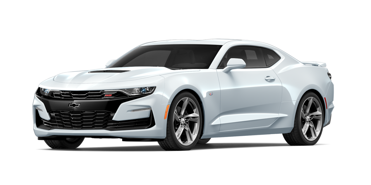 Chevrolet Camaro 2019, carro deportivo color summit white