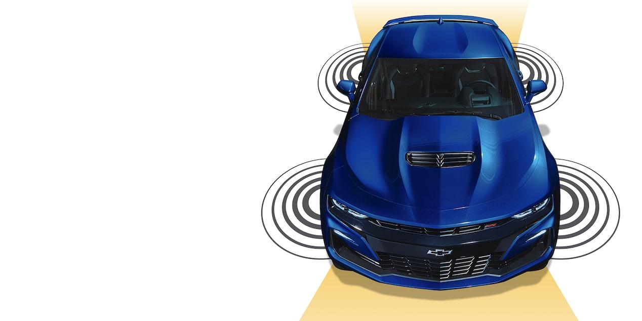 Chevrolet Camaro coupé 2019, carro deportivo, con sensores de  reversa, monitoreo de punto ciego, testigo por abandono de carril  e indicador de cruce trasero