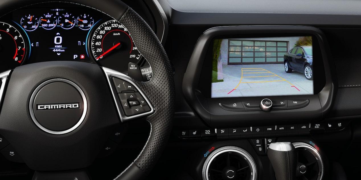 Chevrolet Camaro coupé 2019, carro deportivo, con cámara de  visión trasera en alta definición
