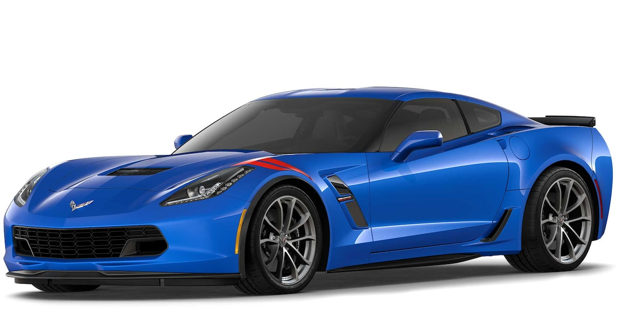 Chevrolet Corvette Grand Sport 2019 superdeportivo color Elkhart Lake Blue