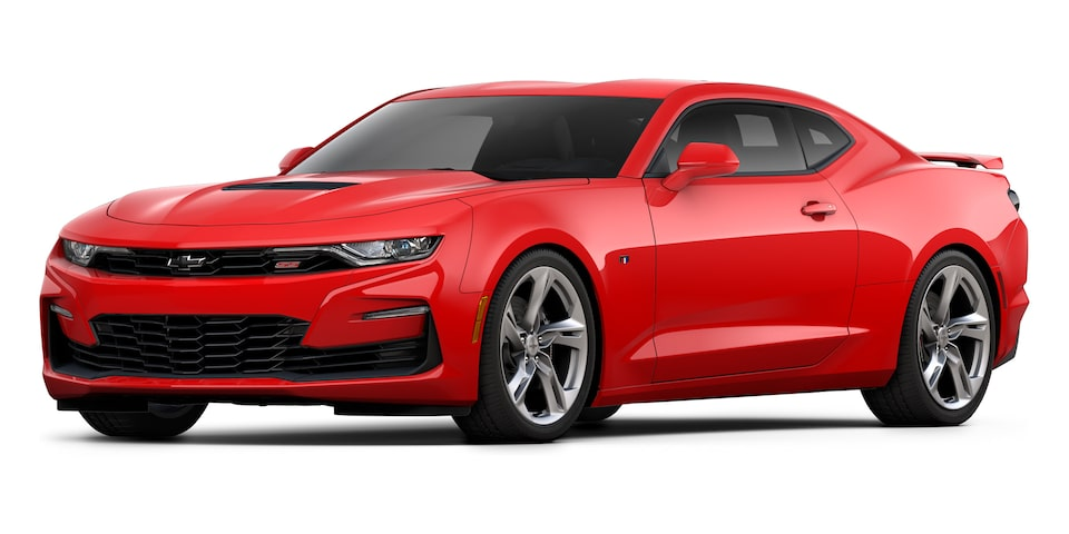 Chevrolet Camaro Coupé 2020, deportivo en color Red Hot