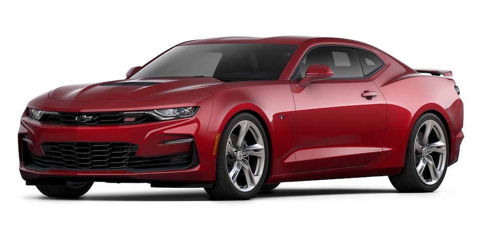 Chevrolet Camaro Coupé 2020, deportivo en color Red Wine