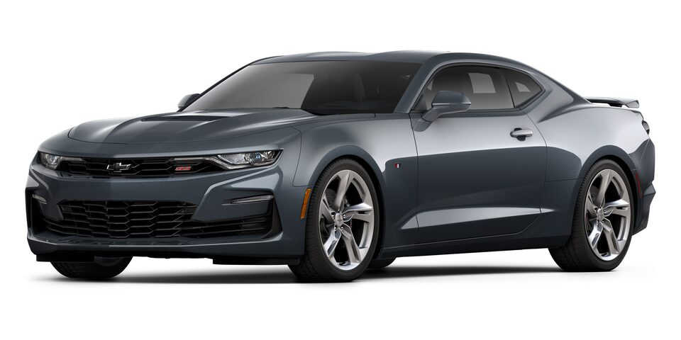 Chevrolet Camaro Coupé 2020, deportivo en color Shadow Gray