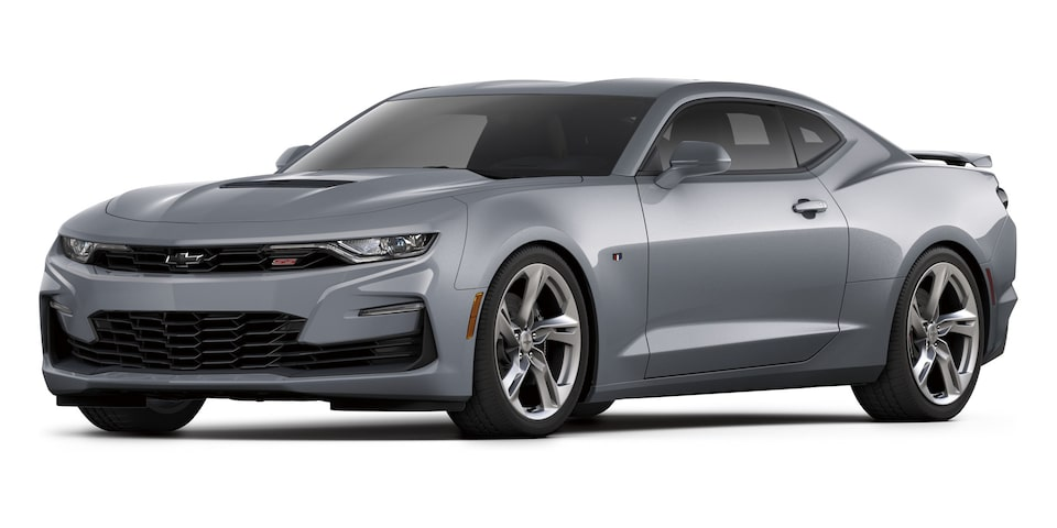 Chevrolet Camaro Coupé 2020, deportivo en color Satin Steel Gray