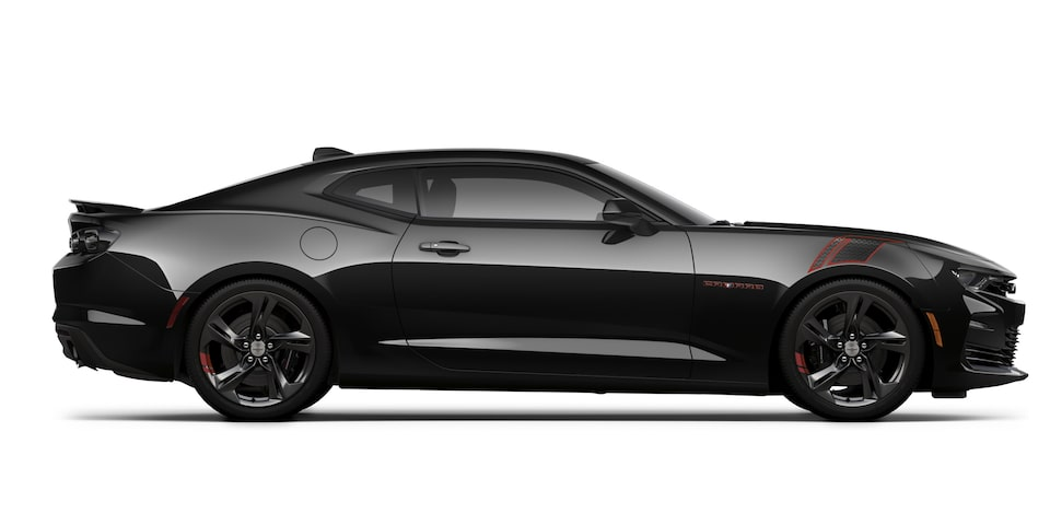 Chevrolet Camaro 2020, deportivo, Red Line Edition en color Black, incluye espejos en color negro