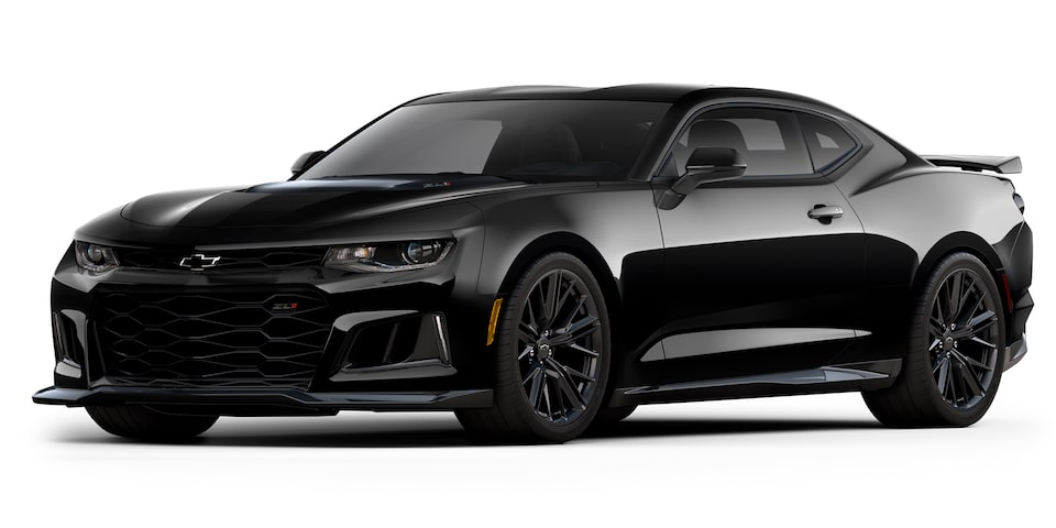 Chevrolet Camaro ZL1 2020, deportivo convertible en color black