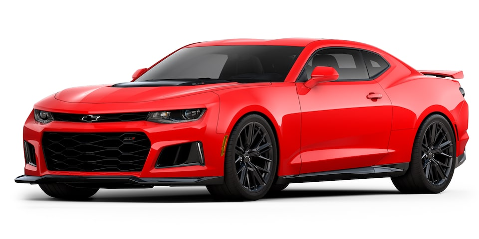Chevrolet Camaro ZL1 2020, deportivo convertible en color red hot