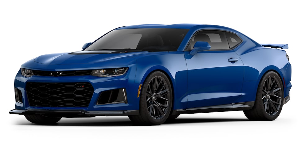 Chevrolet Camaro ZL1 2020, deportivo convertible en color blue metallic