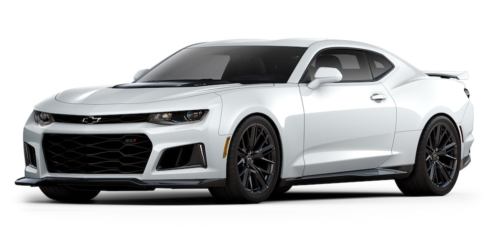 Chevrolet Camaro ZL1 2020, deportivo convertible en color summit white