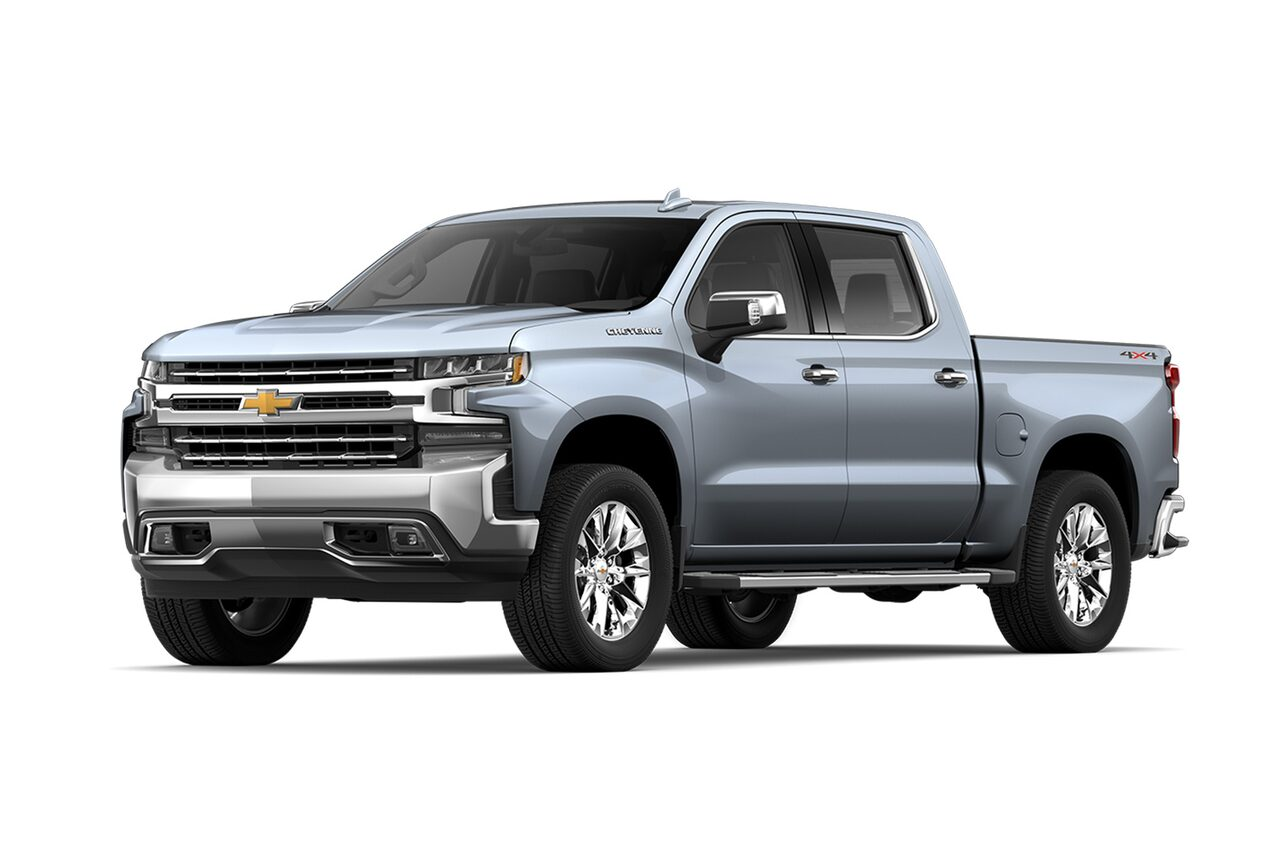 Chevrolet Cheyenne 2019, pick up versión LTZ en color gris grafito metálico