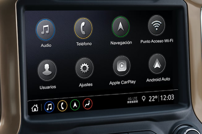 Chevrolet Cheyenne 2019, pick up, equipada con pantalla táctil de 8 pulgadas y audio digital