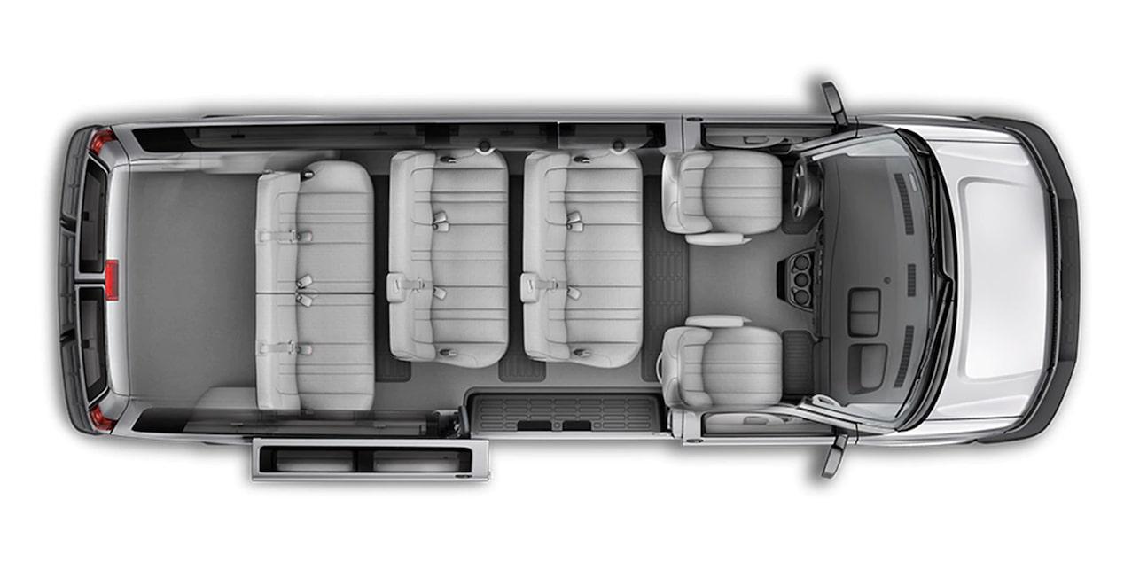 Chevrolet Express, camioneta van, con capacidad interior para 12 pasajeros
